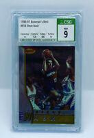 1996-97 BOWMAN'S BEST STEVE NASH #R18 ROOKIE CARD CSG PSA 9 MINT RC W 9.5 SUBS