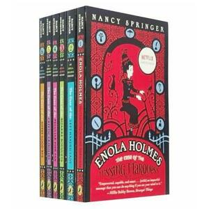 Enola Holmes Mystery Series 6 Books by Nancy Springer - Young Adult - Paperback