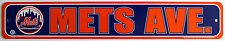 "Licensed MLB Sign Large 24"" x 4"" New York Mets Street Avenue Sign"