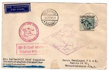 1930 Zeppelin Flight Friedrichshafen Round Trip South America From Netherlands
