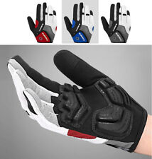 Cycling Gloves Full Finger Gel Padded Reflective Bicycle Mtb Bike Outdoor Sports