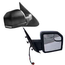 For 03-06 Ford Expedition Power+Heated+LED Turn Signal Side Mirrors Pair Black