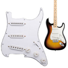 Electric Guitar Prewired Loaded SSS Pick Guard Fender Stratocaster White 3ply
