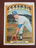 BOBBY VALENTINE 1972 TOPPS # 11 EX  L A DODGERS