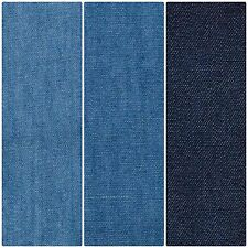 """Lightweight Washed 4oz Denim 100% Cotton Fabric Material 145cm (57.5"""") Wide"""