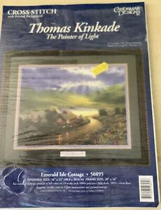 Thomas Kincade Cross Stitch With Painted Background Kit