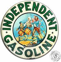 Independent Gasoline Gas Motor Oil  Garage Round Metal Tin Sign