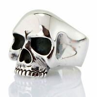KEITH RICHARDS SKULL RING 925 STERLING SILVER MEN'S NEW BIKER ROCKER GOTHIC