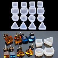 2XWomen Clear Silicone Mold For Making Jewelry Earrings DIY Mold Resin Molds  ci
