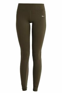 NIKE Epic Lux Running Full Length Crops Olive Green XL Extra Large