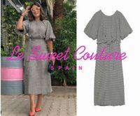 ZARA WOMAN NWT SALE! HOUNDSTOOTH DRESS SIZE XL BLACK WHITE REF: 4437/256