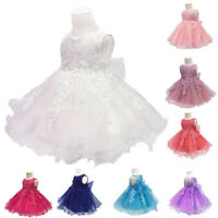 Toddler Flower Girls Lace Dress for Baby Kids Party Baptism Christening Wedding