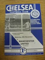 25/11/1967 Chelsea v Manchester United  (Score Noted On Cover & Team Changes). F
