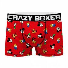 Disney Classics Character Heads Men's Boxer Briefs Shorts Red