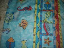 """""""FISH & SEAHORSE """" SHOWER CURTAIN BY SPRINGS...."""