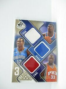 2009-10 SP Game Used 3 Star Swatches 125 #3SEHO Shaquille O'Neal/Patrick Ewing/