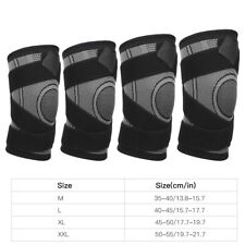 Outdoor Sport Compression Kneepad Fixed Belt Kneecap Fitness Training Gray