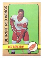 1972-73 Red Berenson Detroit Red Wings 123 OPC O-Pee-Chee Hockey Card P167