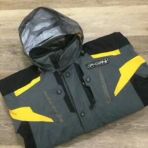 SPYDER Full Zip Up Hooded Gray Ski Snowboarding Jacket Boy's Size 16
