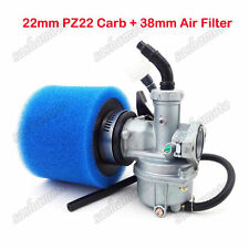 22mm Carburetor + 38mm Air Filter For 110cc 125cc Pit Dirt Bike ATV Quad Go Kart