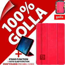 Golla Road Pink Slim Snap Folder with Stand Folio Cover Apple iPad Mini 1 2 3