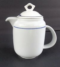 Richard Ginori Individual White & Blue Coffee Pot Signed Italy 902