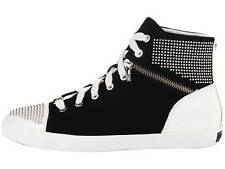 Womens Shoes Michael Kors BOERUM MINI STUDDED HIGH TOP Lace Up Sneakers Black