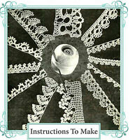 Vintage crochet pattern-12 pretty crochet lace edgings for you to make