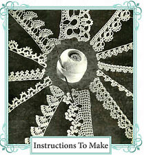 Vintage Crochet pattern-12 Pretty Crochet Lace edgings per voi per rendere