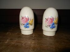ANTIQUE VINTAGE SALT AND PEPPER SHAKERS WITH BEAUTIFUL FRUIT DESIGN