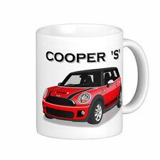 MINI  COOPER  'S'      QUALITY  11oz . MUG    ( 6 CAR COLOURS)