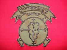 SNIPER Team 25th Infantry Division TROPIC LIGHTNING - Vietnam War Subdued Patch