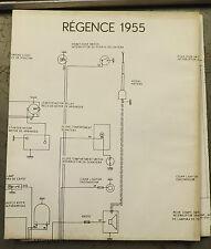 1955 Simca Regence Wiring Diagram Poster