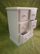 Furniture chest of drawers with 6 drawers, wood solid, 72 cms. White