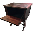 Antique+Mahogany+Wood+Hatch+Door+Side+Table+Early+1900s+Unrestored++