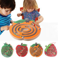 Kids Magnetic Maze Toys Kids Wooden Game Toy Wooden Intellectual Jigsaw Board X