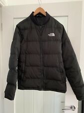 Mens The North Face Puffer Bomber Jacket 550 Black Size S