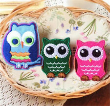 3PCs Embroidered Cloth Iron On Patch Sew Motif Applique Cute Owl DIY Patches S