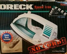 Oreck Speed Iron Cord Free w/ charging base TX 850.  In open box, used once.
