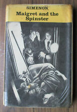 MAIGRET AND THE SPINSTER. EX. LIBRARY.1977. G. SIMENON. Hardback