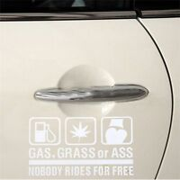 Truck New Nobody Rides For Free Funny Sticky Vinyl Sticker Car Decal Window