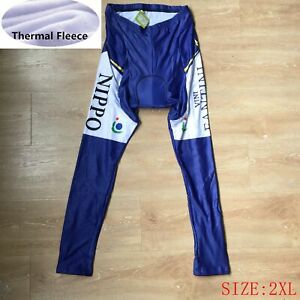 Mens Pro Team Cycling Tights Winter Thermal Fleece pants Bicycle Leggings 2XL