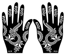 Hand Temporary Tattoo #Henna Glitter #Stencil Sticker Body Art Vinyl #Template