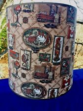 Antique LAMP SHADE Primitive Minuteman Steamboat Willie Rooster Indian Kenmore