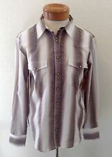 SCULLY PSL- 041 Ladies Textured Stripe Western Shirt - Brown Size M - NWT