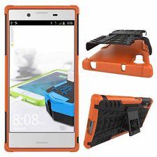 Etui Hybride 2 pièces Extérieur Orange Housse Étui pour Sony Xperia XZ F8331