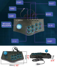 PC PS3 Andriod Gaming Gamepad Controller USB Wired Arcade Street Game Joystick