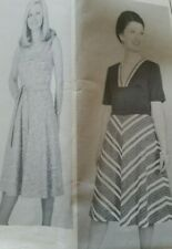**UNCUT**Sewing Pattern**Ladies Summer Dress**Sleeveless/Short Sleeves**Size 14