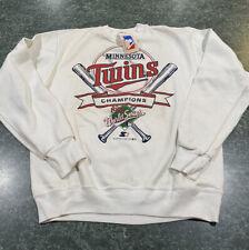 Vintage 1987 Starter MINNESOTA TWINS World Series Champions Sweatshirt Med *NEW*