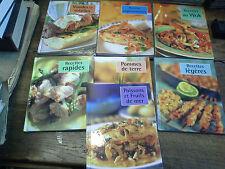 Lot de 7 livres de recettes cuisine